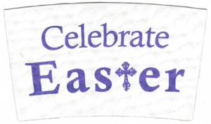 """""""Celebrate Easter"""" on White"""