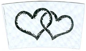 Hearts Intertwined / White