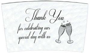 Champagne Thank You / White